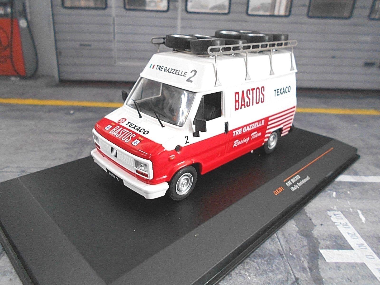 Fiat Ducato Van Bus Service Team Bastos FORD PORSCHE LANCIA RALLYE NEUF Ixo 1 43