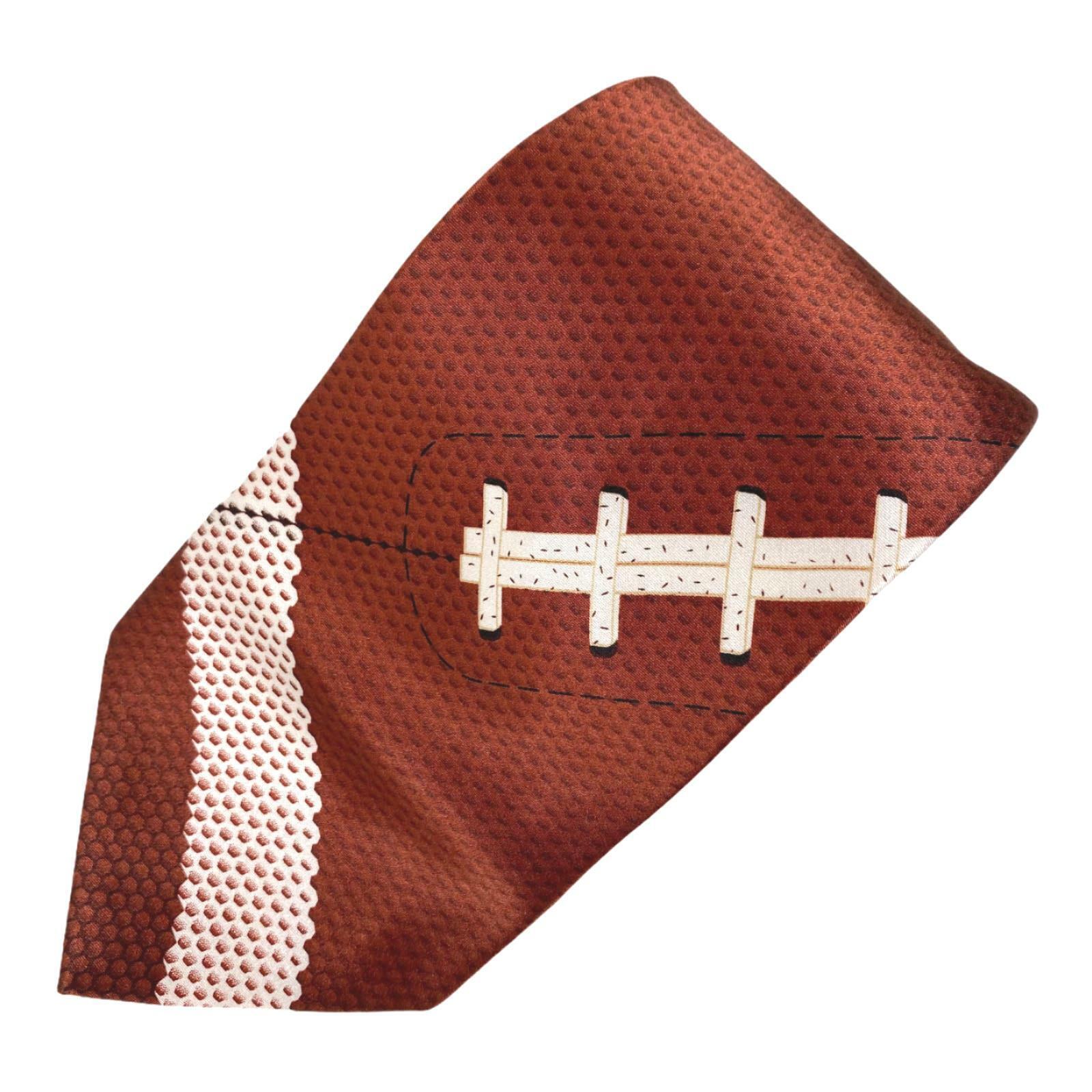 Ringmasters Fußball Spitze Braune Weiß Seide Krawatte
