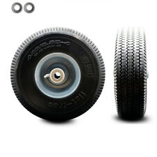 10 X 3 Flat Free Hand Truck Dolly Wheel Only With 4 Centered Hubampball Bearing