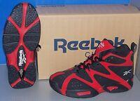 Boys Reebok Kamikaze I Mid In Colors Flash Red / Black / White Size 6.5