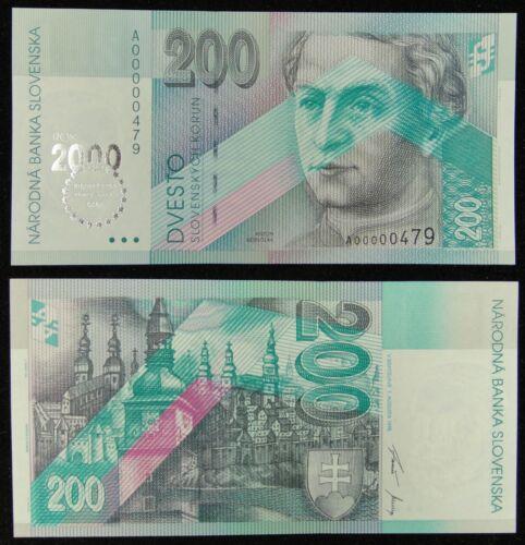 SLOVAKIA Commemorative Banknote 200 Korun 2000 UNC