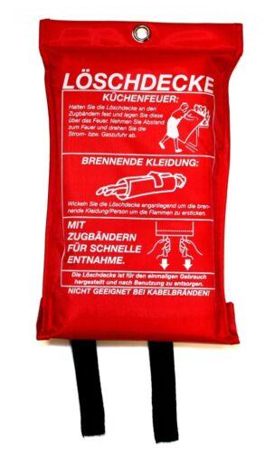 LÖSCHDECKE 1m² Feuerlöschdecke Feuerdecke Fiberglas FEUERLÖSCHER Brandlöscher