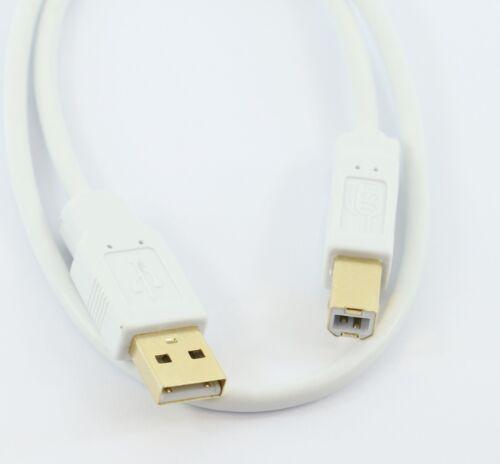 USB 2.0 A to B PRINTER CABLE M//M WHITE or BLACK 0.5m 1m 2m 3m 5m GOLD CONNECTORS