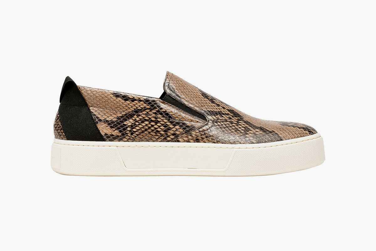 Balenciaga Men's Python Scuba Slip On Sneakers Beige Black  995