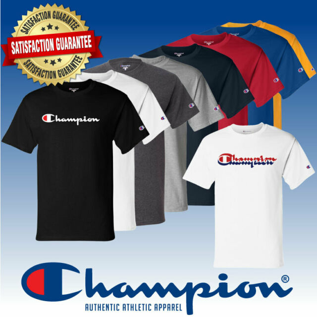 Champion Mens Classic Jersey Long Sleeve Graphic T-Shirt Shirt