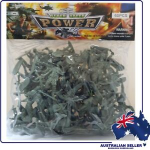 60 Piece ARMY MEN TOY SOLDIERS - Brand New