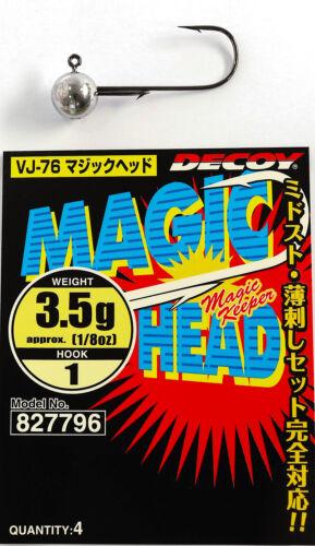 827796 Decoy VJ-76 Magic Head 3.5gr #1 4pcs//pack