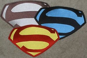 "7"" x 10"" Embroidered George Reeves Superman Chest Logo Patch: color choice [5]"