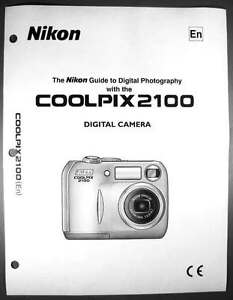nikon coolpix 2100 digital camera user guide instruction manual ebay rh ebay com Nikon Coolpix S01 Digital Camera Nikon Coolpix S51 Wire