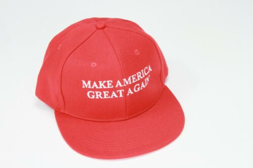 Donald Trump Make American Great Again Flat Billed 2016 Presidential Hat Red