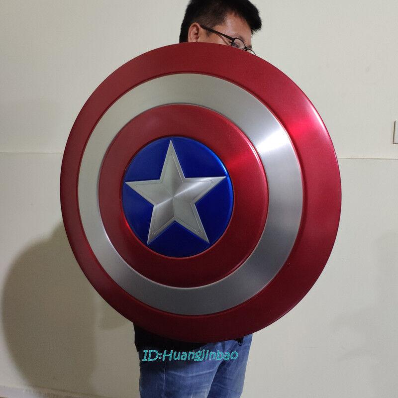 SCALA 1/1 Scudo di Capitan America modello in lega di alluminio verniciato Cosplay costume di scena Nuovo