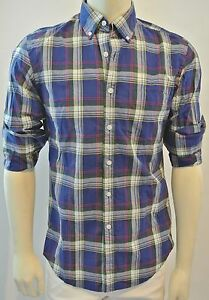 J-CREW-Men-Tartan-Highlander-Green-Plaid-Shirt-NwT-Small
