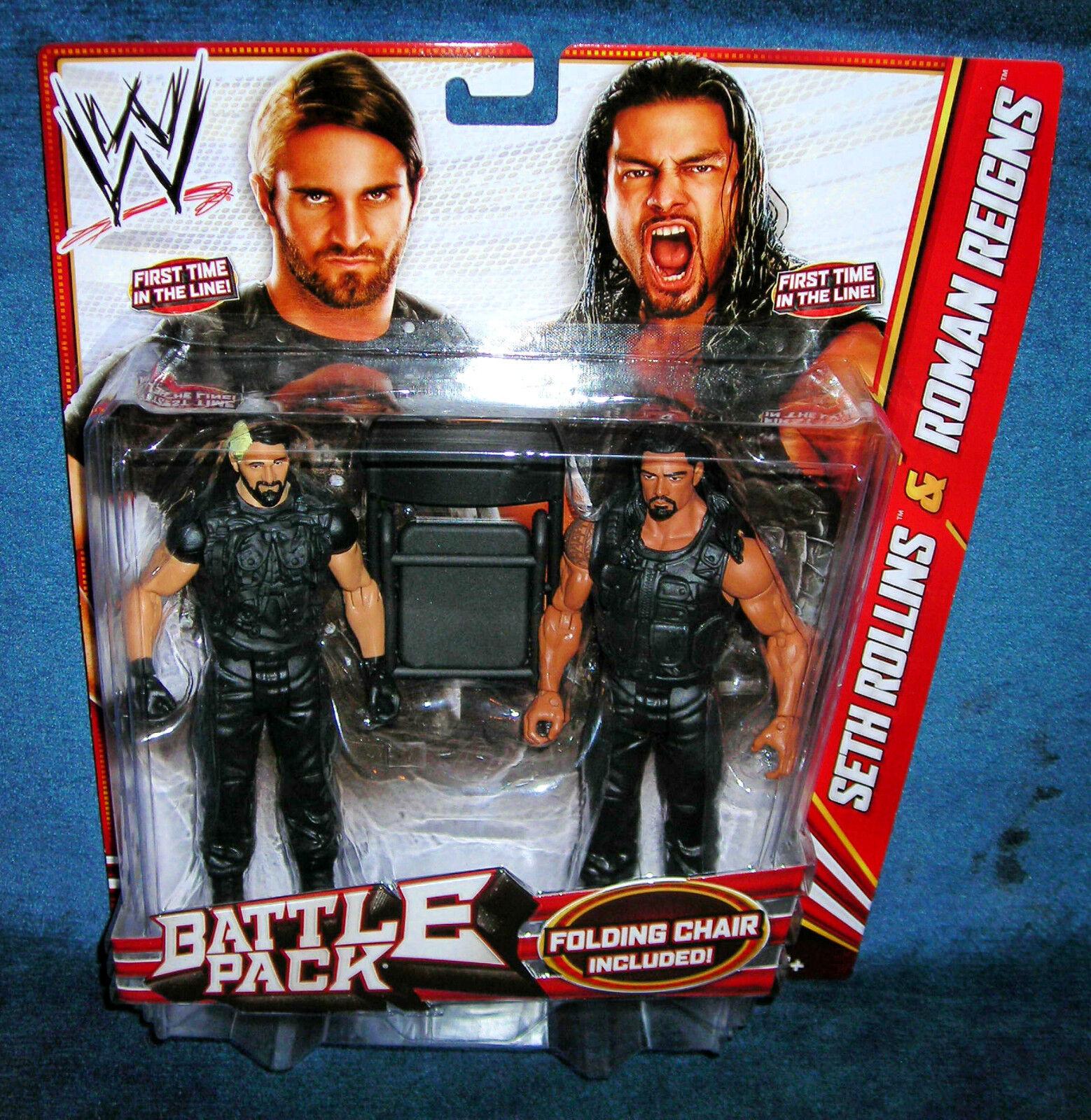 WWE SETH ROLLINS ROMAN REIGNS SHIELD TAG TEAM FIRST WWF WCW ECW RAW WRESTLEMANIA