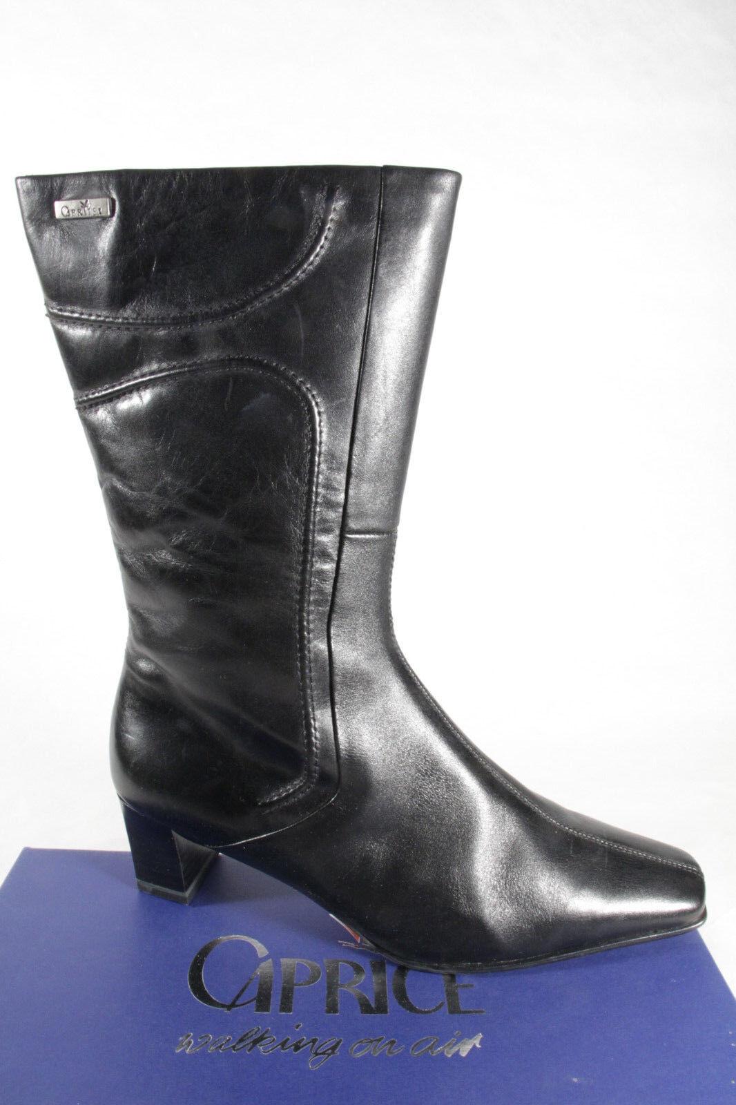 Caprice botas señora botas Caprice negro cuero genuino nuevo 49e411