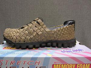 Details about New Skechers Womens 22690BRZ EZ FLEX 2 Snazzed Up Size 6.5 Walking Shoes Bronze