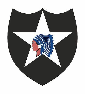 1x STICKER 2ND INFANTRY DIVISION ARMY US LAPTOP TABLET HELMET PC BUMPER