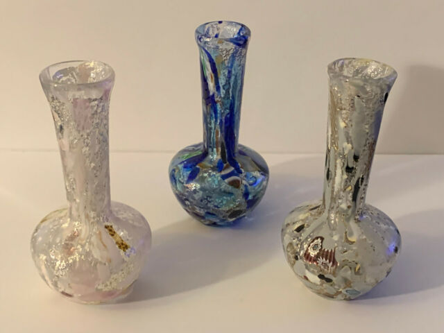 Square Base Tall Glass Vase Set Set Of 3 Assorted Height For Sale Online Ebay