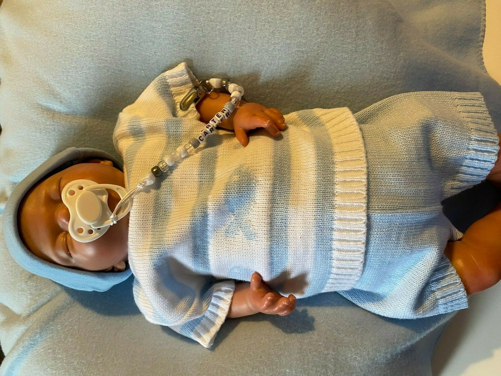 Reborn baby boy sunbeambabies 18 inch great condition. accessories included