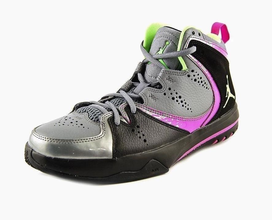 Nuova Uomo autentico nike jordan fase 23 hoop 2 scarpe da basket forte grigio / nero