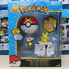 Pokemon GO Pikachu Cubone Repeat Pop-up Poke Ball Action Figure Kid Play Set Toy