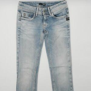 G-Star W27 L32 blue blau Damen Designer Denim Jeans Hose VTG Vintage Mode Lady
