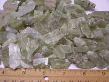 Hiddenite green spodumene kunzite crystal Afghanistan 1/8 pound lot 4-20 pieces