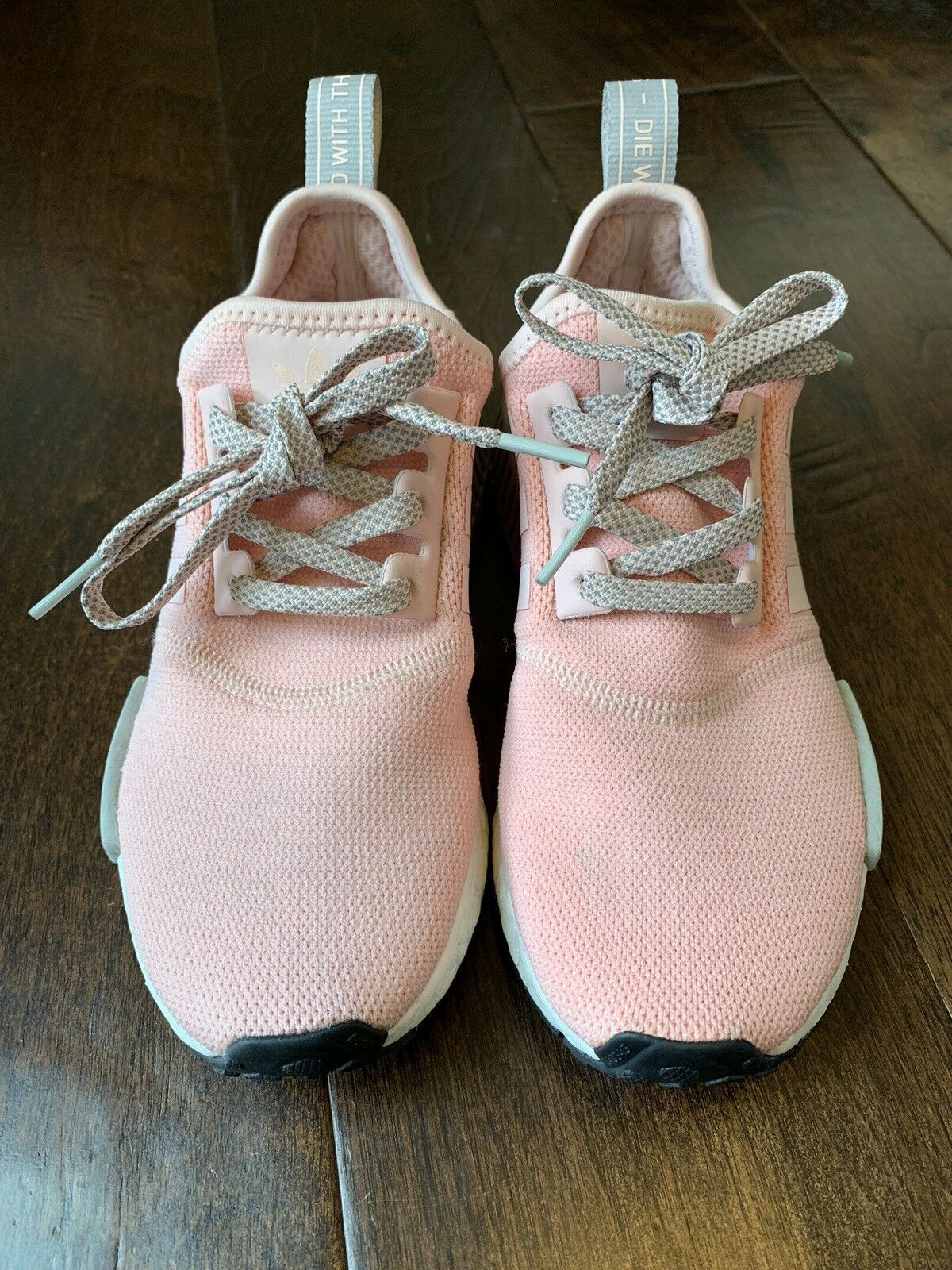 VNDS Adidas Adidas Adidas NMD R1 Vapour Pink Onix Grey Offspring BY3059 Size 6 Women's 2dd21c