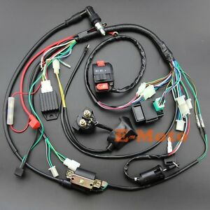 Details about Full Electrics wiring harness CDI 50 70 90 110 125CC on chinese wiring harness, atv wiring harness, engine wiring harness, chopper wiring harness, yamaha wiring harness, go kart wiring harness, painless wiring harness, racing wiring harness, automotive wiring harness, motorcycle wiring harness, reverse wiring harness, 250cc wiring harness, bike wiring harness, suzuki wiring harness, cdi wiring harness, 150cc wiring harness, xs48 107cm wiring harness, pioneer wiring harness, 70cc wiring harness, honda wiring harness,