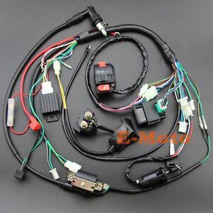 full electrics wiring harness cdi 50 70 90 110 125cc atv quad bike