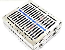 2 German Dental Autoclave Sterilization Cassette Rack Tray For 15 Instrument