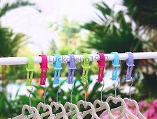 12pc Outdoor Windproof Non-slip Portable Clothes Hanger Washing Line Helper Hook
