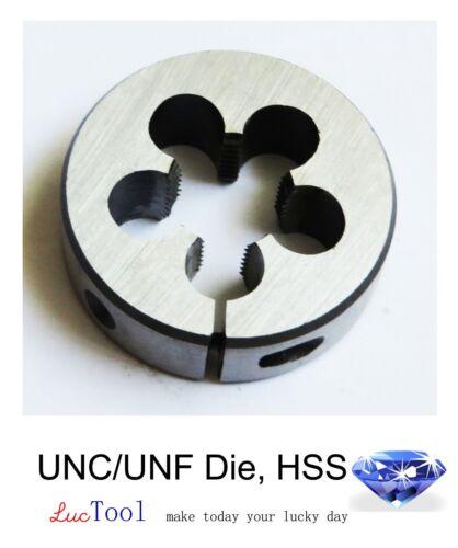 """12-28 UNF Die Round Adjustable Split Threading Die 13//16"""" OD Inch Thread HSS"""