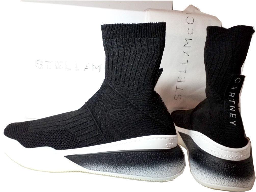 Stella Mccartney Stretch-Knit Espadrilles Noir Runner Baskets Baskets Baskets Bottines 39 39412b