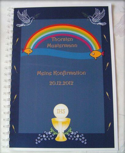 Festzeitung Konfirmation Konfirmationszeitung Geschenk Symbole Taube Regenbogen