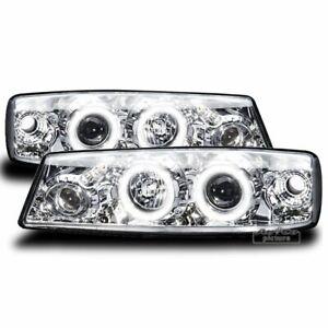Headlights-for-Opel-CALIBRA-90-97-Angel-Eyes-Chrome-WorldWide-Free-Shipping-AU-L