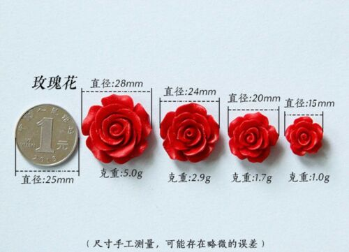 BULK Wholesale 10~34mm Gorgeous Flower Coral Resin Spacer Beads Jewelry Findings