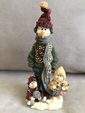 """Boyds Bears FOLKSTONE 1997 Helga with Ingrid and Anna...""""Be Warm"""" NEW IN BOX!"""
