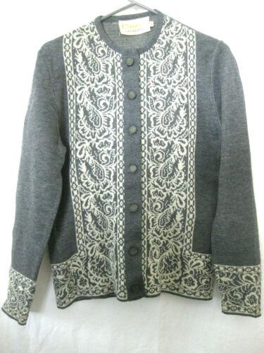Vintage Catalina Jacquard Cardigan Sweater Button