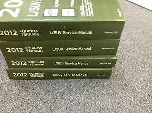2012 gmc terrain chevy equinox service shop repair manual set oem rh ebay com 2012 chevy equinox service manual 2012 chevy equinox shop manual