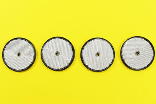 NEU 4x Katzenaugen rund Rückstrahler 80 mm silber KfZ Reflektoren