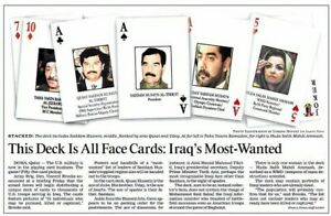 LAST-1-Sealed-2003-Desert-Storm-Iraqi-Most-Wanted-Collector-039-s-Playing-Cards