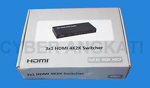 MAPLIN 3 WAY 4K HDMI SWITCH NEW N68DV RRP 5999