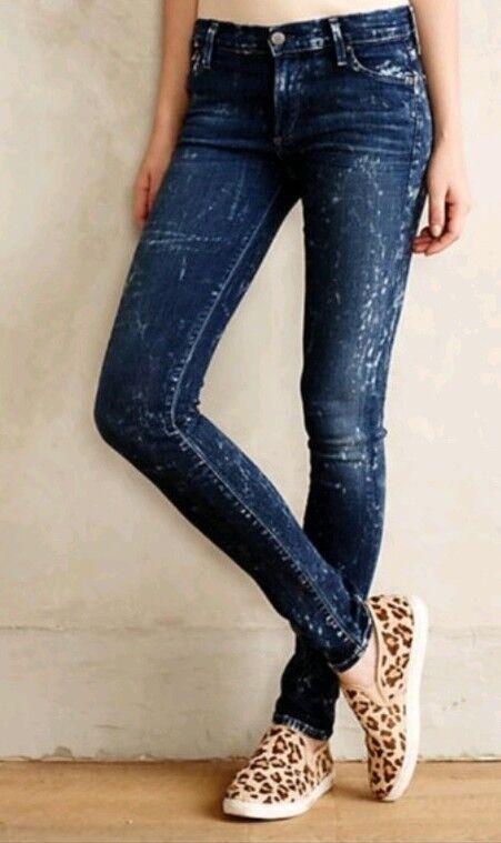Women's Citizens of Humanity Avedon Low Rise Skinny Leg Acid Wash Size 30