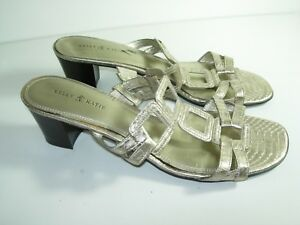 e7d3f41e5ad Image is loading WOMENS-GOLD-CHAMPAGNE-SLIDES-SANDALS-HEELS-CAREER-COMFORT-