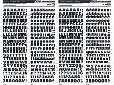 MECANORMA Dry Transfer Lettering Sheet Letraset #529 FOLIO CARAVELLE 4.4// 5mm