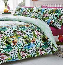 Tropical Island single bed duvet cover pol/cotton
