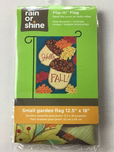 "Acorns  Print Both Sides Small House// Garden Flag 12.5/"" x 18"" Happy Fall"