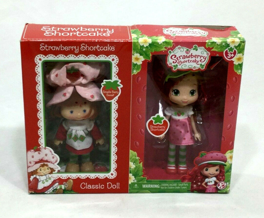 2017 The Bridge Direct Classic Strawberry Shortcake Doll 2 Pack Set Retro Boxed