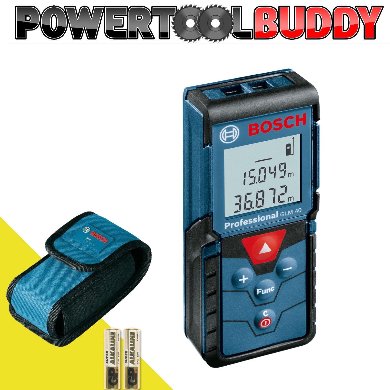 Bosch GLM40 40mt Laser Measurer Range Finder HM