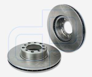 2-Bremsscheiben-MERCEDES-SKlasse-C126-500-SEC-vorne-Vorderachse